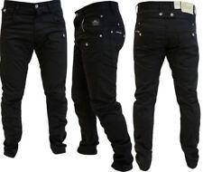 Jeans da uomo medio nero affusolati