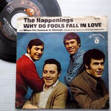HAPPENINGS picture sleeve 45 WHY DO FOOLS FALL IN LOVE WHEN SUMMER IS THROUGH E4