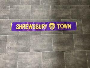 SHREWSBURY TOWN RETRO FOOTBALL SCARF - VINTAGE - RARE