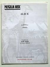 Partition vintage sheet music NOIR DESIR : Alice * 90's Cantat