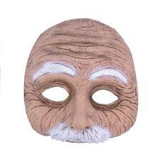 WRINKLY OLD MAN HALF MOUSTACHE HALLOWEEN PARTY MASK - fancy dress accessory