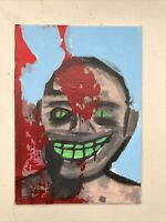 Hasworld Original Signed Painting Contemporary Abstract Expressionism Head Joker