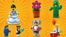 7 x NEW LEGO Series 18 Minifigures flowerpot birthday boy elephant cactus cat