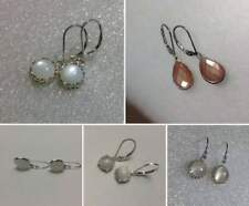 Sterling Silver Natural Moonstone Dangle Earrings *Various Styles*