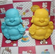 2 Laughing Buddha Soap Mold Silicone Fondant Mold Flexible Resin Clay Craft Mold