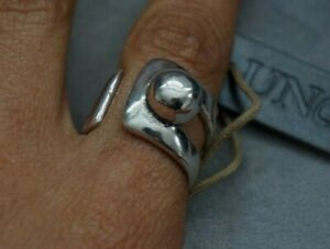 """NWT UNO de 50 Silver Thick """"No Way"""" Statemnt Band Ring  6 7 8 9 S M L XL"""