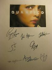 Quantico Signed TV script x8 Priyanka Chopra Josh Hopkins Ruivivar Smith reprint