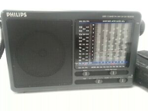 Philips D1875 12 band World Receiver transistor radio FM/LW/MW/SW Spares/Repairs