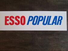 Esso popular petrol pump insert. garage forecourt sign. enamel sign. BP. Shell.