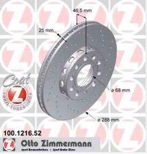 Disque de frein avant ZIMMERMANN PERCE 100.1216.52  AUDI A4 1.8 T 150 180ch 8D2,
