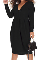 Flattering Simply Be Sparkly Glitter Black Dress Plunge Neck BNWT Party size 22