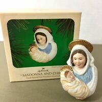Madonna and Child vintage Hallmark hand-painted porcelain Christmas ornament 80s