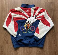 New listing Vintage Starter USA Olympics Size Large Jacket Zip Windbreaker Eagle Read