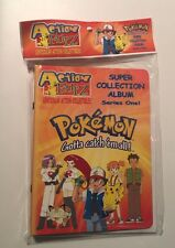 Pokemon Action Flipz Sticker Album Vintage 1999 Factory Sealed Includes 12 Pages