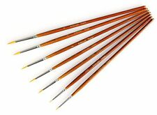 Fine Detail Paint Brush Set - 7 Pieces Miniature Brushes