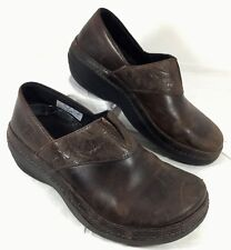 Timberland Pro Renova Work Slip Resistant Clogs Brown leather Sz 6