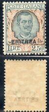 FRANCOBOLLI 1926 ERITREA LIRE 2,50 SOPRASTAMPATO MNH D/8934