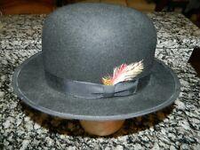 """Western Express"" Men's Sz XL 100% Wool ""BOWLER"" Hat Hard cast in Superior Con"