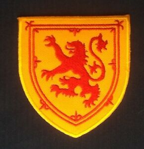 SCOTTISH RAMPANT LION ROYAL STANDARD OF SCOTLAND FLAG IRON SEW ON PATCH CREST