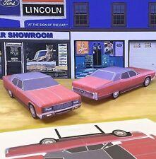 Papercraft 1970 Lincoln Continental Sedan PaperCar EZU-MakeIt Toy Model Car