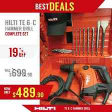 HILTI TE 6-C HAMMER DRILL, NEW, MADE IN EUROPE, FREE BITS, CHISELS, FAST SHIP