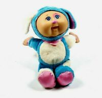 """Cabbage Patch Kids CPK Cuties Blue Pink Puppy Dog Baby Doll 10"""" Plush"""