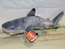 "Wild Republic BLACKTIP SHARK 13"" Plush Cuddlekins Stuffed Ocean Animal NEW"