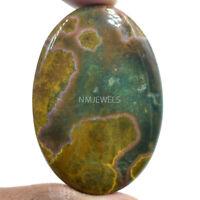 Cts. 98.70 Natural Orbicular Ocean Jasper Cabochon Oval Loose Gemstone