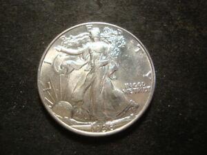 1938 BU AU  Walking Liberty Half Dollar Nice AZX#2