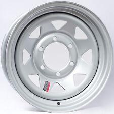 "Trailer Wheel Silver Rim 15 x 6 Spoke Style (6 Lug On 5.5"")"