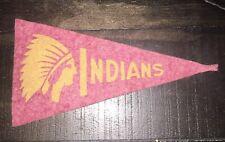 "Vintage Original 1936-38 BF3 Cleveland Indians Mini FELT BASEBALL PENNANT 4 1/4"""