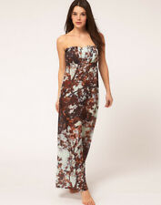 TED BAKER cherry blossom floral print maxi dress beach swim cover up ruffle S