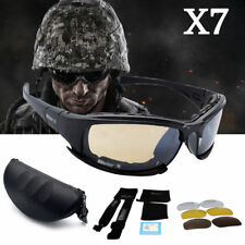 Men's Outdoor 4 Lens Military Tactical Goggles Sunglasses Polarized Lenses Glass