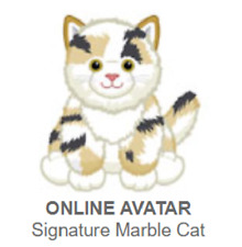 Webkinz Classic Signature Marble Cat *Code Only*
