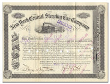 New listing New York Central Sleeping Car Company Stock Certificate Signed by William Webb