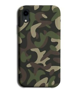 Army Camo Colours Phone Case Cover Green Light Brown Camouflage Shapes H561