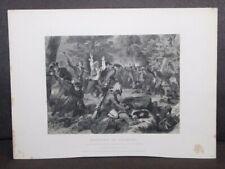 Antique 1859 Print Massacre Of Wyoming Alonzo Chappel