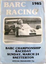 Snetterton BARC 24th MAR 1985 MOTOR RACING PROGRAMMA UFFICIALE