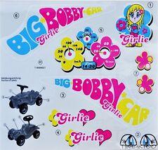 BIG Bobby Car Aufkleber STICKER Classic GIRLIE Bobbycar Aufklebersatz