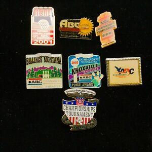Lot of 7 American Bowling Congress Pins