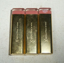 3 tube lot MAX FACTOR X COLOUR ELIXIR LIPSTICK 725 SIMPLY NUDE unsealed flaw