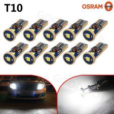10x T10 3030 3SMD Error Free Canbus OSRAM LED White Car Wedge Side Light Bulbs