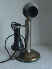 Vintage Western Electric # 269 Nickel Plated Brass Candletstick Telephone