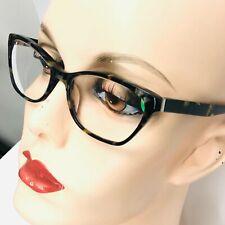 Seraphin Eyeglasses Black Silver and Gold Tortoise Plastic Glossy Frames