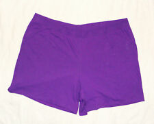 JMS Just My Size Plus 100% Cotton Jersey Shorts 4X Purple New