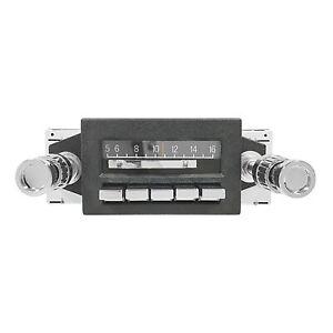 1967-1973 Ford Mustang Custom Autosound Slidebar Radio AM-FM USB IPOD