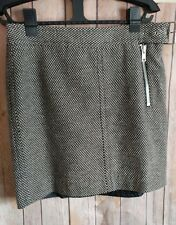 Tommy Hilfiger Womens Gray Black Plaids gingham Lined mini Skirt Size 2