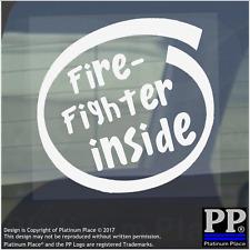 1 x Fire Fighter à l'intérieur de vitre, Voiture, Van, Autocollant, Signe, véhicule, adhésif, Sécurité, aide