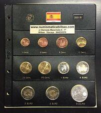 ESPAÑA 2015 MONEDAS EURO + HOJA DE PARDO + 2 EUROS ALTAMIRA+BANDERA + 30€ PLATA