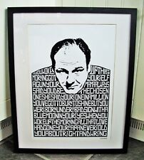 Sopranos/Tony Soprano/Woke Up This Morning A3 size typography art print/poster